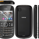 Telefon mobil Nokia 201 Asha, Graphite, second-hand - Telefon Nokia, Vodafone