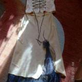 Costum elegant cu corset - Costum dama, Marime: L, Culoare: Orange, Costum cu fusta, Orange