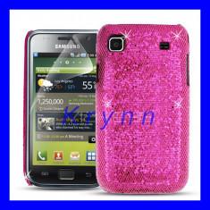 Husa, Samsung Galaxy S, Roz, Plastic - HC223 - Carcasa plastic - Samsung Galaxy S I9000, Model LASER roz + FOLIE!!!