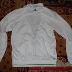 Vand bluza de trening adidas - Bluza barbati Adidas, Marime: M, Culoare: Alb, Cu fermoar, Poliester