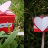 Decoratiuni nunta - Cutiute marturii inima