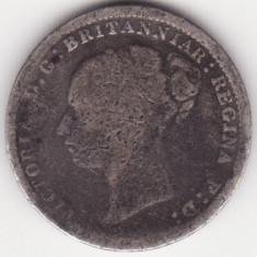 Moneda - Regatul Unit al Marii Britanii si Irlandei - 3 Pence 1885 - Victoria - primul portret - monede Maundy - argint