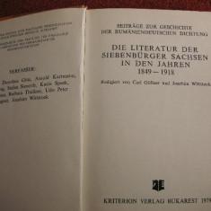 Die literatur der siebenburger sachsen in den jahren 1849-1918 - Carte Literatura Germana