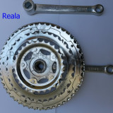 Piese Biciclete - Angrenaj / foi pedalier / pedale 3 FOI / Bicicleta ( patrat )