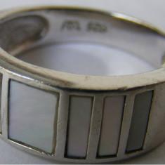Inel vechi din argint cu sidef (3) - de colectie - Inel argint