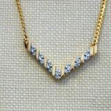 superb colier diamante, aur 14K, 5.31g...SUA