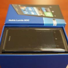 Nokia lumia 800 - Telefon mobil Nokia Lumia 800, Negru, Neblocat