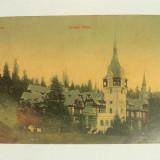 CARTE POSTALA SINAIA-CASTELUL PELES CIRCULATA LA 1910