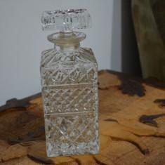 Sticla whisky BOHEMIA anii 1980 / Bohemia cristal 24% Pbo / STICLA Whisky cristal