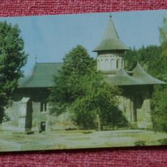 Carte postala ---- Biserica Voronet - Vedere dinspre sud - necirculata !!! - Carte Postala Moldova dupa 1918