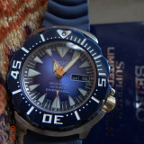 Ceas barbatesc Seiko, Lux - sport, Mecanic-Automatic, Inox, Cauciuc, Ziua si data - SEIKO BLUE SHARK MONSTER LIMITED EDITION AUTOMATIC SCUBA 200 meter DIVER