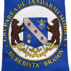 ROMANIA ECUSON MILITAR EMBLEMA GRUPAREA JANDARMI BUREBISTA BRASOV Nr. 1 **