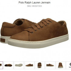 RALPH LAUREN; JERMAIN; Tenisi barbati Polo By Ralph Lauren; SNEAKERS; PIELE; ORIGINALI USA