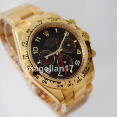 Ceas Barbatesc Rolex, Lux - elegant, Analog, Inox - Rolex Daytona Golden Case Automatic! ! ! CEL MAI MIC PRET ! CUTIE CADOU !