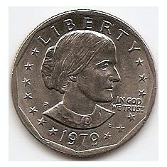 Monede Straine, America de Nord, An: 1979 - Statele Unite (SUA) 1 Dolar 1979 Comemorativa: Susan B. Anthony Dollar, KM-207