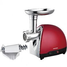 Masina de Tocat Carne, 1200 W - Masina tocat Heinner MG1200TA-Red, adaptor suc de rosii si carnati - RESIGILAT