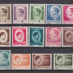Timbre Romania, An: 1945, Regi, Nestampilat - 1945 UZUALE - MIHAI I - HARTIE ALBA - MNH DE LUX!!