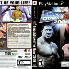 Joc original WWE SmackDown! Vs Raw 2006 pentru consola Sony Playstation 2 PS2 - Jocuri PS2 Activision, Sporturi, Toate varstele, Multiplayer