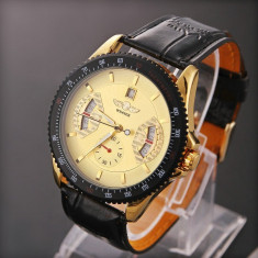 Ceas Winner Tachymetre MILITAR ARMY DELUXE/FASHION EXCLUSIVE FULL AUTOMATIC GOLD! CALITATE GARANTATA! PESTE 2200 CALIFICATIVE POZITIVE! - Ceas barbatesc Diesel, Casual, Mecanic-Automatic, Inox, Piele, Cronograf