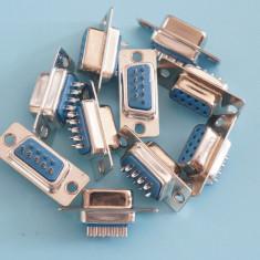 Mufa serial 9 pini tata - DB9 RS232 9 Pin Serial Female Plug Connector 9 Pin - Releu
