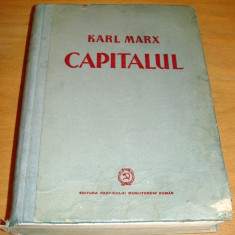 Carte veche - CAPITALUL - Karl Marx / Vol. I