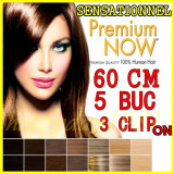 Extensii par BeautyUkCosmetics Extensie banda 3 clipsuri 5 piese kanekalon blond deschis platinat