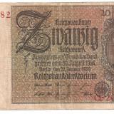Bancnota Straine, Europa - Germania 20 Marci 1929 U