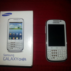 Samsung Galaxy Chat GT-B5330 White - Telefon Samsung, Alb, 4GB, Neblocat, Single core, Nu se aplica