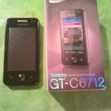 Telefon Samsung, Negru, Nu se aplica, Neblocat, Dual SIM, Fara procesor - Telefon mobil Samsung C6712 Dual Sim, Black DUAL SIM