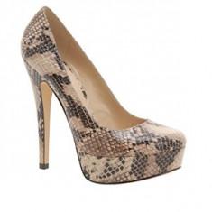 Pantofi dama Aldo, Marime: 38 - ~~~ Pantofi ALDO Capecoral Snake, mar 38, noi, 150 lei ~~~