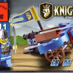 Jocuri Seturi constructie - Jucarie arbaleta si figurina tip lego, tip lego, 42 piese, Enlighten 1011