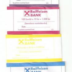 Banderole pt bancnote / RAIFFEISEN .