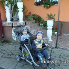 Carucior GRACO pentru copii de varste diferite sau gemeni - Carucior Gemeni Graco, Pliabil, Maro