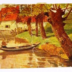 Carte postala - ARTA - NATURA - Casa cu barca - circulata 1934 Romania -  2+1 gratis toate produsele la pret fix - RBK4068