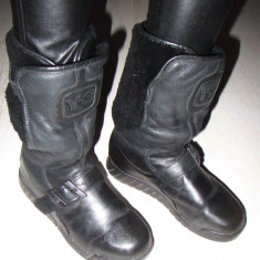 Cizme dama - Botine bocanci cizme ghete moto cu platforma YOHJI YAMAMOTO ADIDAS Y-3 autentice piele si blana naturala 37 1/3