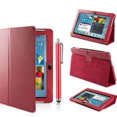 Husa Tableta, 10.1 inch, Samsung - Husa tip stand ptr. Samsung Galaxy Tab 2 10.1' P5100/P5110 *RED*+Pen Gratis