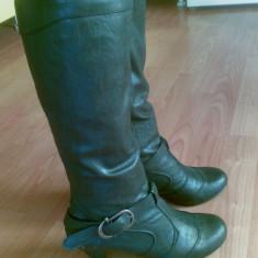 Cizme din piele firma Espirit marimea 38, sunt noi! - Cizme dama Esprit, Culoare: Negru, Negru