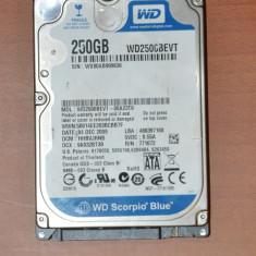 Hard Disk, Hdd Laptop Western Digital, 250GB, 200-299 GB, SATA