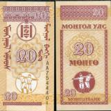 MONGOLIA- 20 MONGO 1993- UNC!!