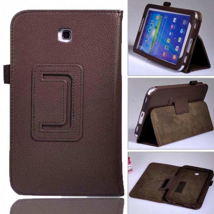 Husa tableta Samsung galaxy Tab3 7 inch. Culoare MARON foto mare