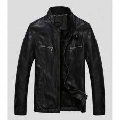 Geaca piele zara noua xl - Geaca barbati Zara, Culoare: Negru, Negru