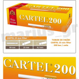 CARTEL 25 mm Filter - Pachet 10 cutii tuburi tigari x 200 buc pentru tutun