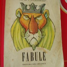 FABULE, LA FONTAINE - ION CREANGA ! FOARTE RARA ! - Carte Fabule