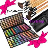 Trusa make up - Trusa machiaj profesionala 180 culori MAC + set 15 pensule machiaj make up Bobbi Brown par natural + fond de ten + trusa blush