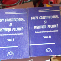 DREPT CONSTITUTIONAL SI INSTITUTII POLITICE TEORIA GENERALA A INSTITUTIILOR - CONSTANTIN DRAGANU, 2 VOLUME ! - Carte Drept constitutional