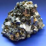 Specimen minerale - Piesa ESTETICA - BLENDA, CUART, PIRITA - Fosila roca