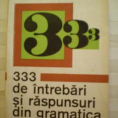 LEON LEVITCHI - 333 DE INTREBARI SI RASPUNSURI DIN GRAMATICA ENGLEZA - EDITURA STINTIFICA - 200 PAG.