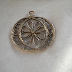 Frumos si Vechi Pandant Filigran ( lucrat manual ), model deosebit - Pandantiv argint