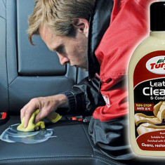 Solutie Curatare si Intretinere Tapiterie Piele Turtle Wax Leather Cleaner - Cosmetice Auto