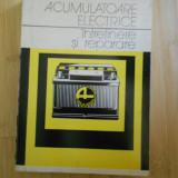 Carti Constructii - GH. CLONDESCU--ACUMULATOARE ELECTRICE - INTRETINERE SI REPARARE